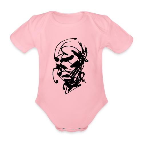 face - Organic Short-sleeved Baby Bodysuit
