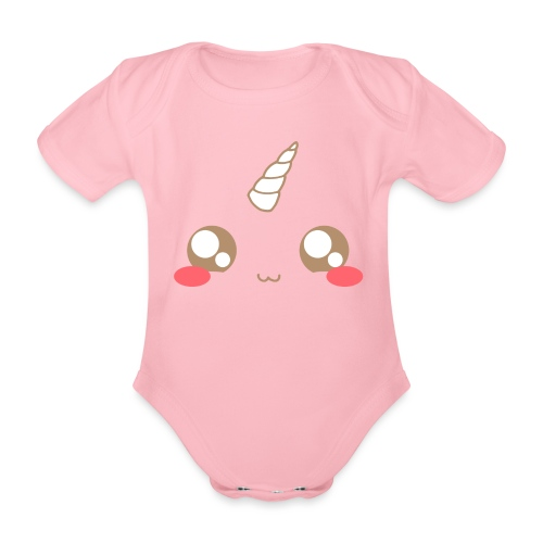 Kawaii_T-unicorn_EnChanta - Organic Short-sleeved Baby Bodysuit