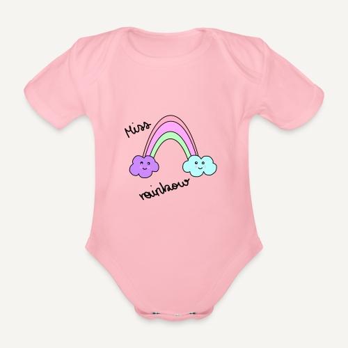 Miss rainbow - Baby Bio-Kurzarm-Body