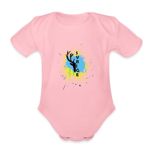 SVERIGE - Ekologisk kortärmad babybody