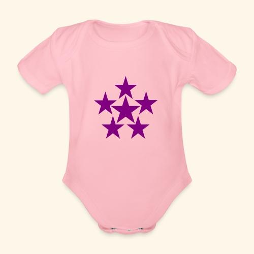 5 STAR lilla - Baby Bio-Kurzarm-Body