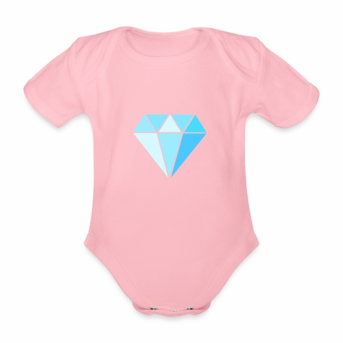 Diamond - Baby bio-rompertje met korte mouwen