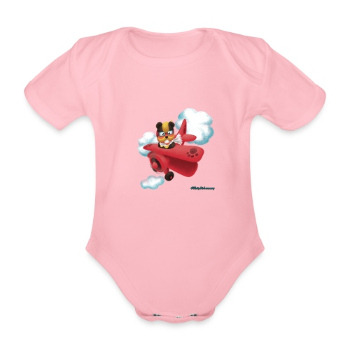 Bearplane - Organic Short-sleeved Baby Bodysuit