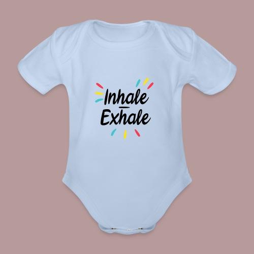 Inhale exhale yoga namaste - Body Bébé bio manches courtes