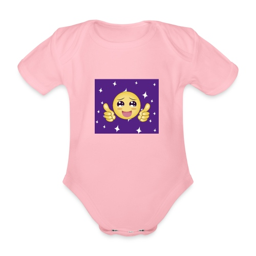 carita feliz optimista - Body orgánico de maga corta para bebé