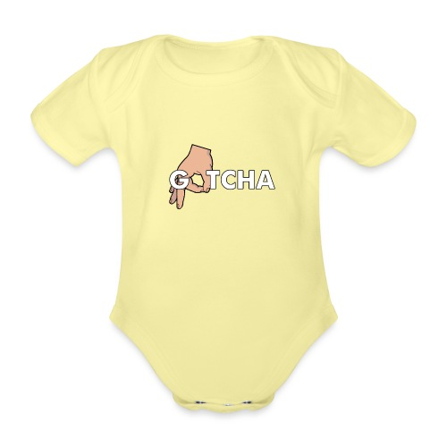 Gotcha Made You Look Funny Finger Circle Hand Game - Organic Short-sleeved Baby Bodysuit