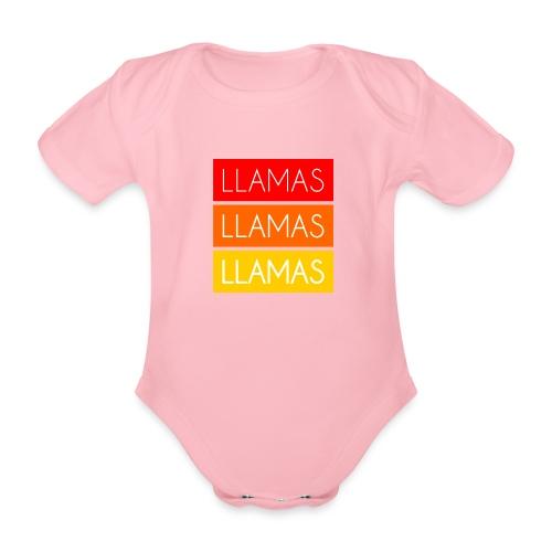 Llamas Llamas Llamas - Kortærmet babybody, økologisk bomuld