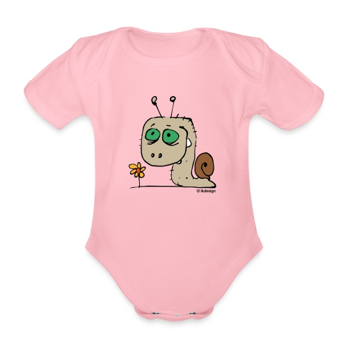 Schnecky - Baby Bio-Kurzarm-Body