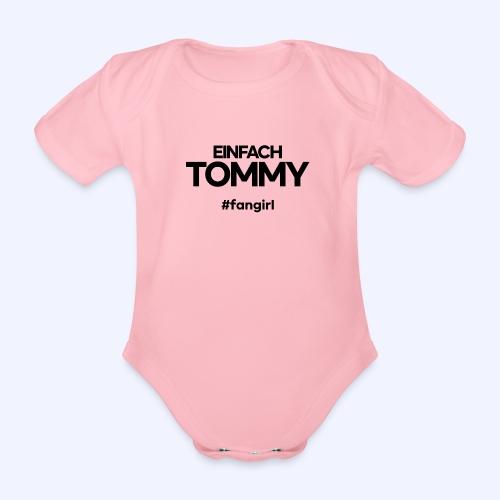 Einfach Tommy / #fangirl / Black Font - Baby Bio-Kurzarm-Body