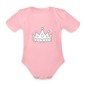 Signature Crown - Organic Short-sleeved Baby Bodysuit
