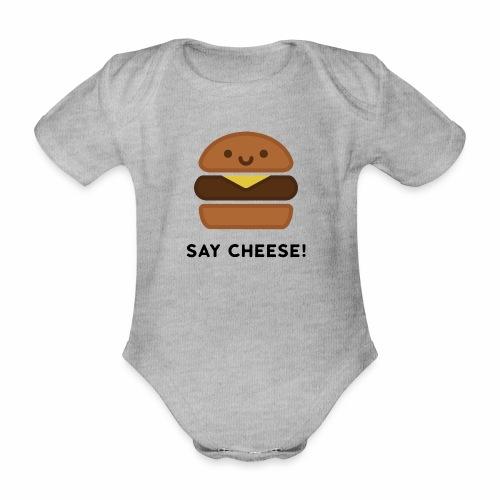 Say Cheese! - Organic Short-sleeved Baby Bodysuit