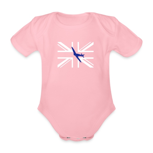 ukflagsmlWhite - Organic Short-sleeved Baby Bodysuit