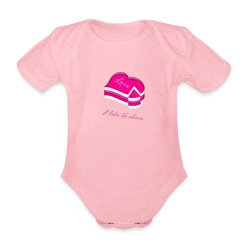 love cake - Baby Bio-Kurzarm-Body