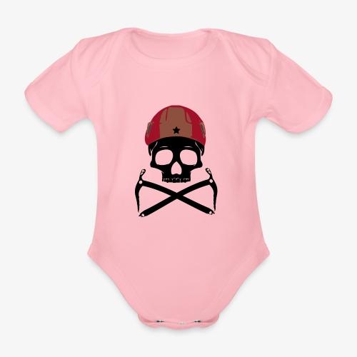 Climber Pirats skull black - Climbing Pirates - Organic Short-sleeved Baby Bodysuit