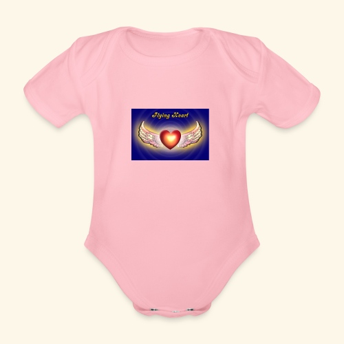 Flying Heart - Baby Bio-Kurzarm-Body