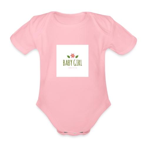 Baby Girl - Baby bio-rompertje met korte mouwen