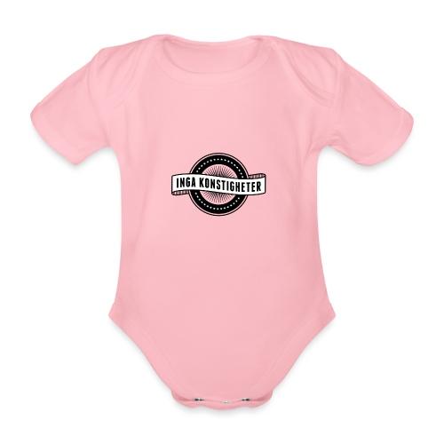Inga Konstigheters klassiska logga (ljus) - Ekologisk kortärmad babybody