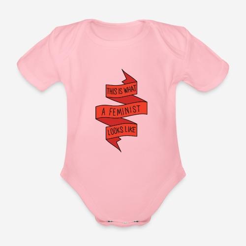 This is a feminist - Ekologisk kortärmad babybody