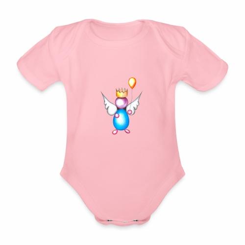 Mettalic Angel geluk - Baby bio-rompertje met korte mouwen