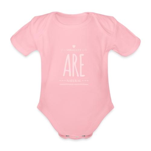 Daniela Elia Design - baby - miracles are natural - Baby Bio-Kurzarm-Body
