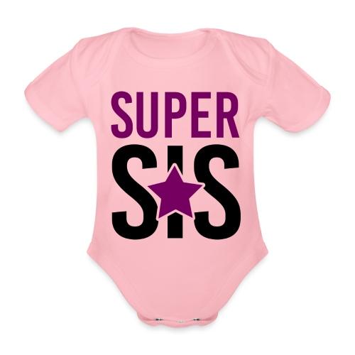 Super SIS Schwester schwanger Geschenk Babybody - Baby Bio-Kurzarm-Body