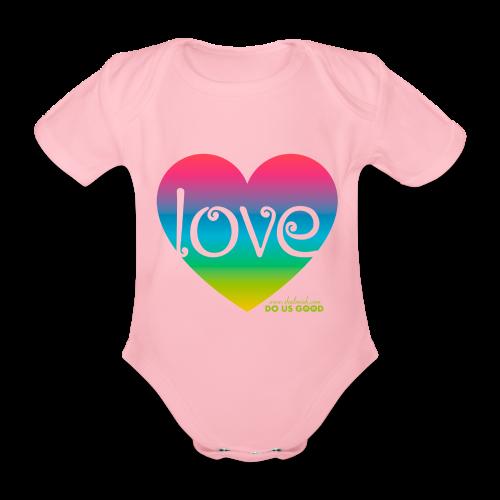 LOVE - Vauvan lyhythihainen luomu-body