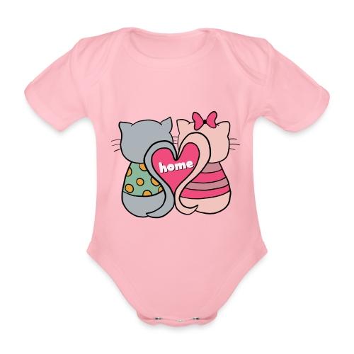 Cats - Organic Short-sleeved Baby Bodysuit