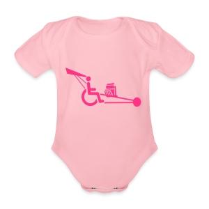 WheelchairV8 - Baby bio-rompertje met korte mouwen