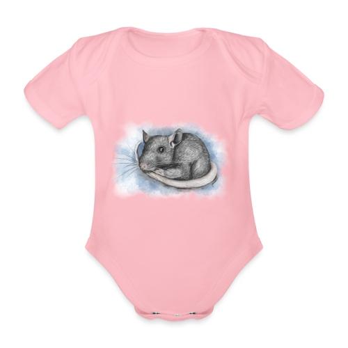 Rottapiirros - Värikuva - Vauvan lyhythihainen luomu-body