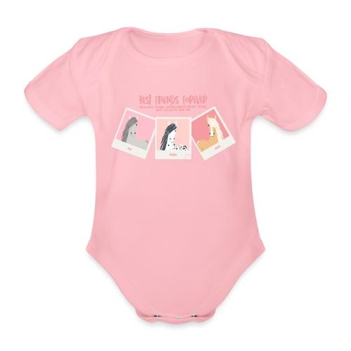 Best horse friends forever - Organic Short-sleeved Baby Bodysuit