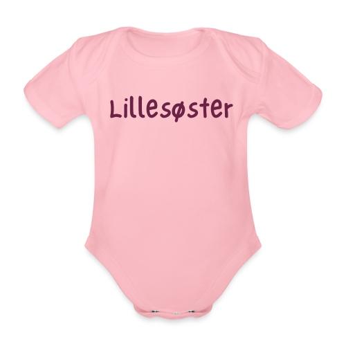 lillesøster - Økologisk kortermet baby-body