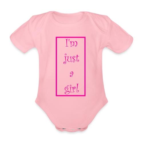 I' m just a girl #1 - Baby Bio-Kurzarm-Body