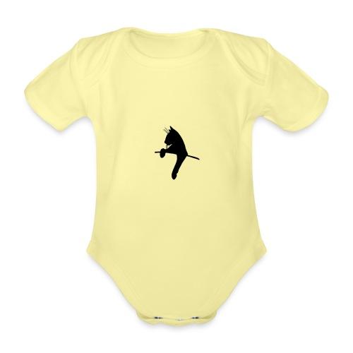 KittyCat - Kortærmet babybody, økologisk bomuld