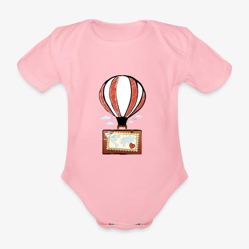 CUORE VIAGGIATORE Gadget per chi ama viaggiare - Body ecologico per neonato a manica corta