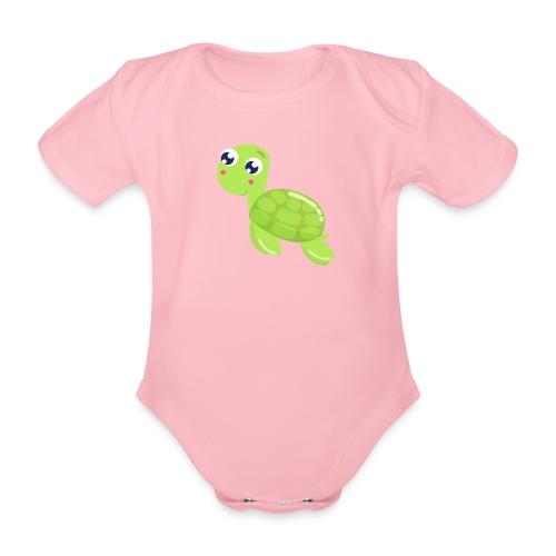 schildkroete - Baby Bio-Kurzarm-Body