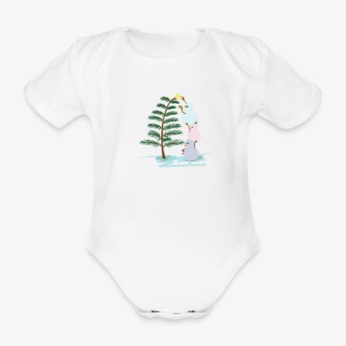 3bonhommesdeneige - Organic Short-sleeved Baby Bodysuit