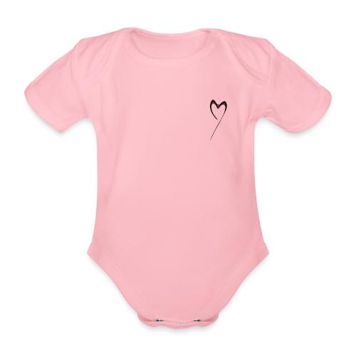 Line Heart - Body orgánico de maga corta para bebé