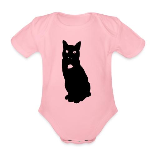 Knor de kat - Baby bio-rompertje met korte mouwen