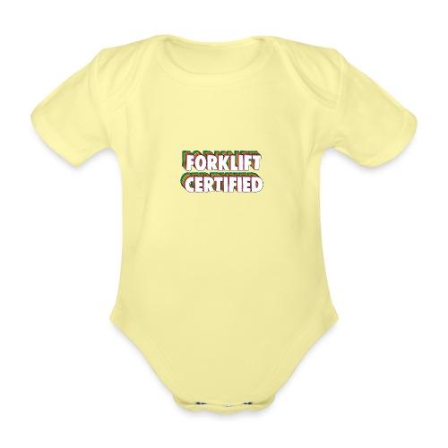 Forklift Certification Meme - Organic Short-sleeved Baby Bodysuit