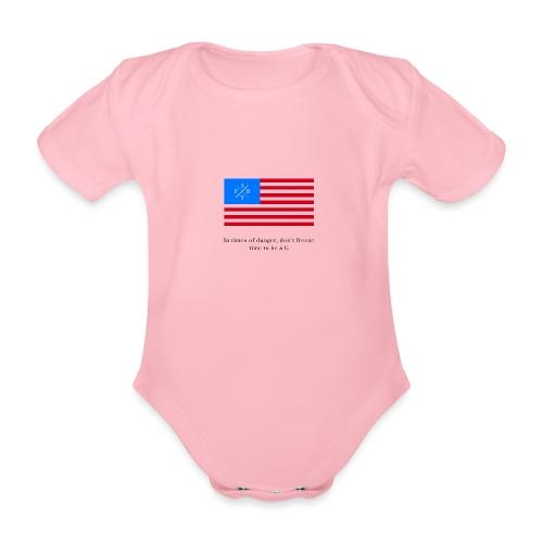 Transparent - Organic Short-sleeved Baby Bodysuit