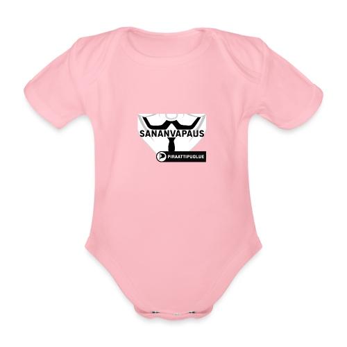 Sananvapaus - Vauvan lyhythihainen luomu-body