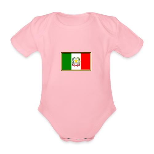 Bandiera Italiana - Body ecologico per neonato a manica corta