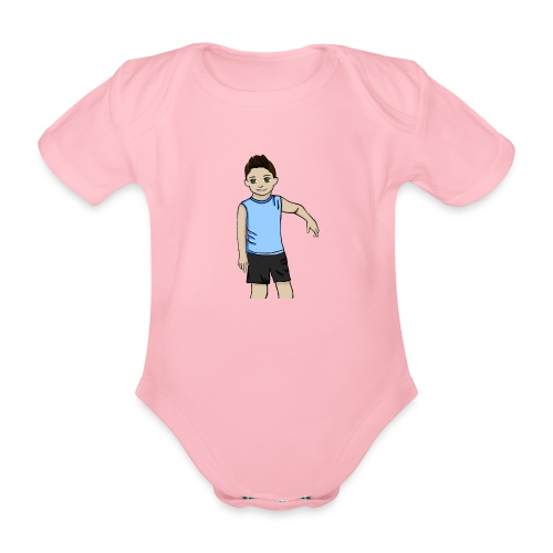 OfirGaming HD logo - Organic Short-sleeved Baby Bodysuit