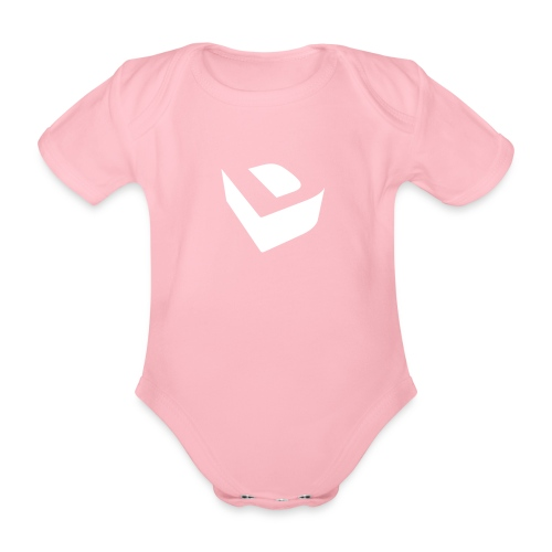 Extruded D (white) - Organic Short-sleeved Baby Bodysuit