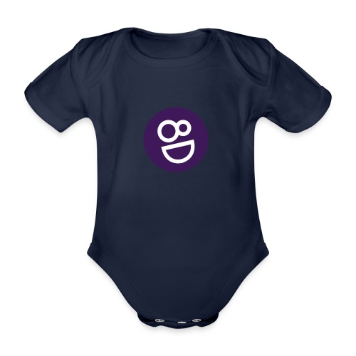 logo 8d - Baby bio-rompertje met korte mouwen