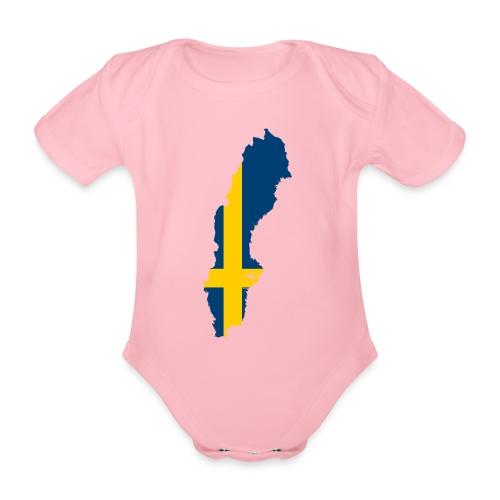 Sweden - Baby bio-rompertje met korte mouwen