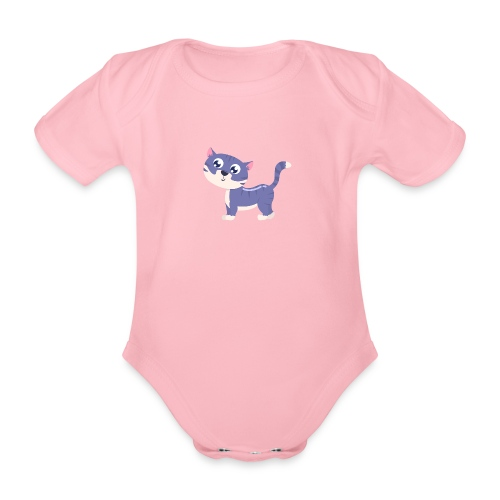 katze - Baby Bio-Kurzarm-Body
