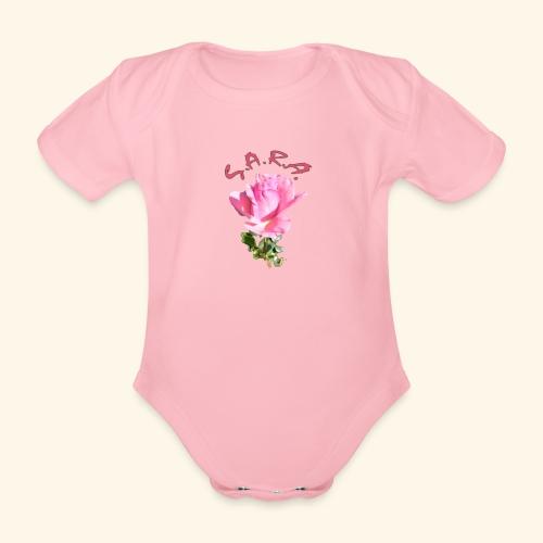 Rose Queen Elisabeth - Baby Bio-Kurzarm-Body