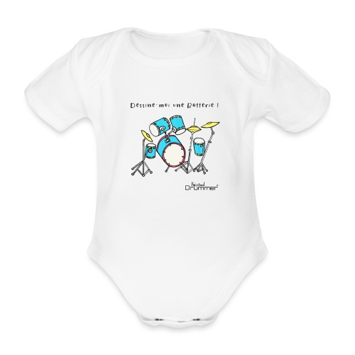 Luigi Drum - Organic Short-sleeved Baby Bodysuit