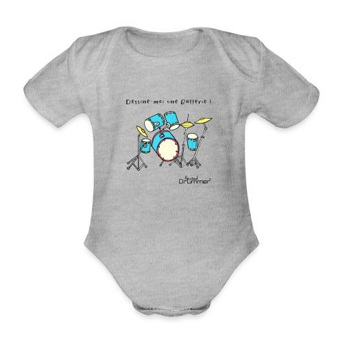 Luigi Drum - Organic Short-sleeved Baby Bodysuit